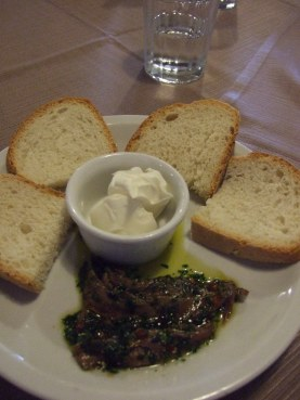 Anchovies and Mascarpone